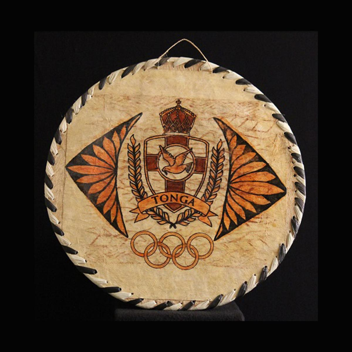 Tonga Tapa Cloth Plaque
