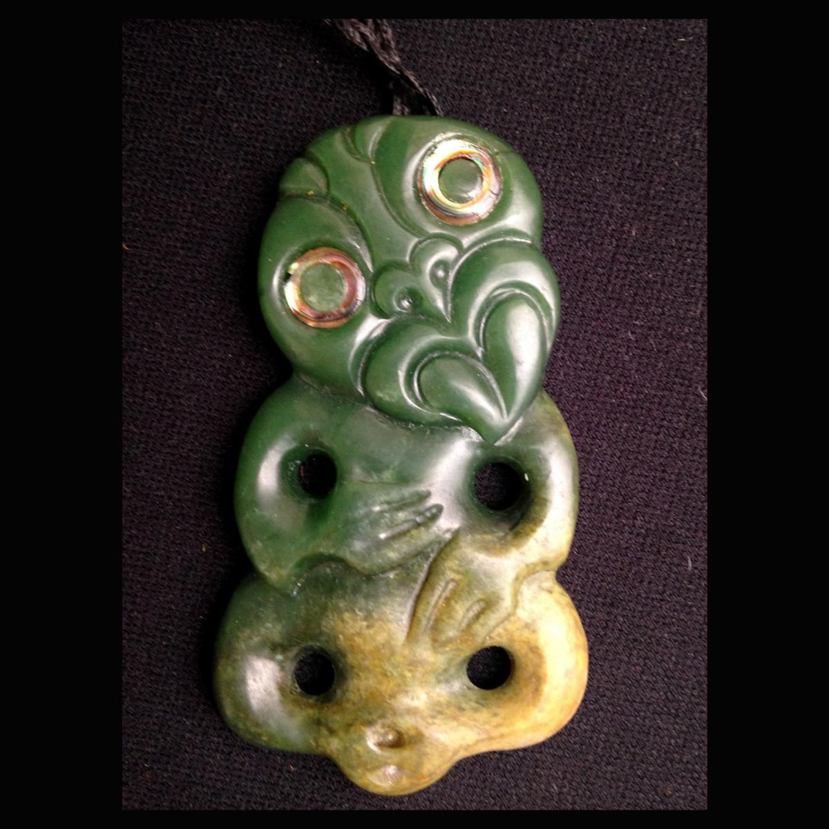 New Zealand Jade Hei Tiki Carving